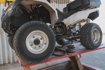 Repair service station of extreme transports ATVs , motorbikes, scooters