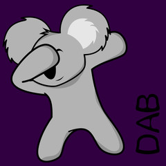 dab dabbing pose koala kid cartoon in vector format very easy to edit