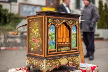 A barrel organ at a Christmas market in Switzerland - 2