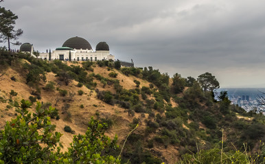 Griffith Park Observatory on a cloudy day