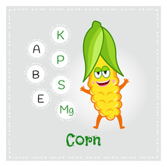 Image result for corn Provides Essential Minerals cartoon