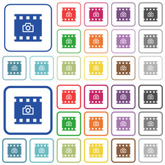 Grab image from movie outlined flat color icons