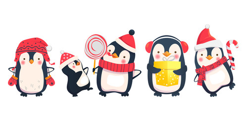 penguins cartoon illustration