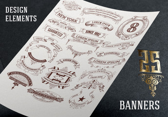 25 Ornamental Banners Set