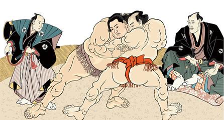 相撲絵 浮世絵 歌川国貞 白背景