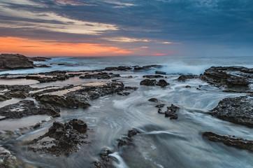 Dawn Seascape and Rocky Headland