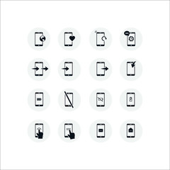 Phone icon. Flat vector icon set