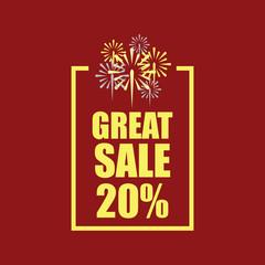 Great Sale 20% Vector Template Design
