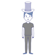 man with USA hat