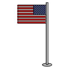 USA flag isolated icon
