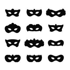 Mardi gras masks icons icon vector illustration graphic design