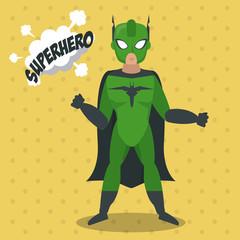 Superhero man cartoon icon vector illustration graphic design