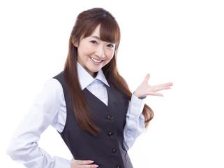 ビジネス 案内する女性