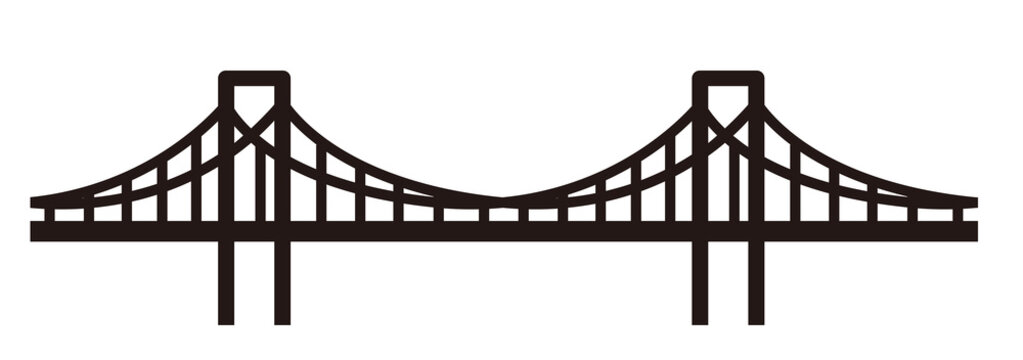 simple seamless bridge illustration