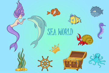 Under The Sea - Mermaid Character Set