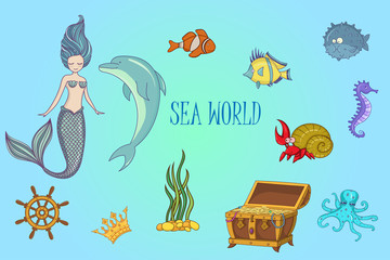 Under The Sea - Mermaid Character Set