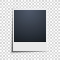 Polaroid on a transparent background. Photo frame. Vector