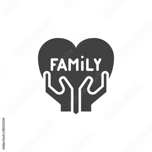 Family Love Icon Vector Filled Flat Sign Solid Pictogram Isolated