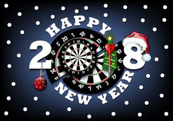happy new year and darts board