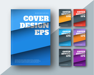 Vector modern covers with diagonal colored stripes