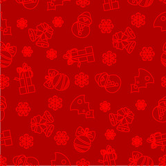 Vector seamless pattern of christmas decoration