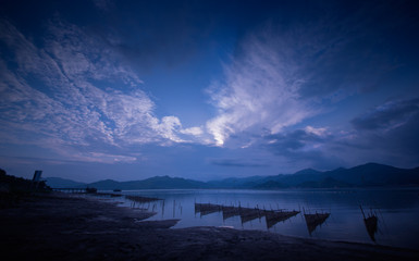 The scenery of the shallows in Xiapu County, Fujian, China