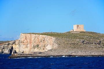 View of the island during the Springtime, Comino, Malta.