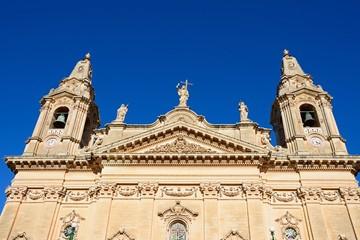 View of Naxxar Parish church, Naxxar, Malta.