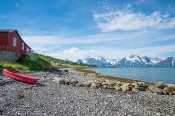 Am Lyngenfjord bei Rotsund, Norwegen