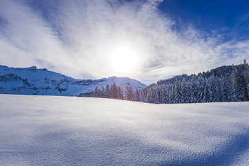 Winter alpine landscape