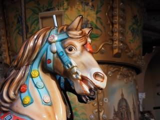 Vintage  horse carousel.
