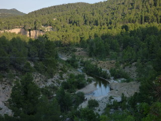 Teruel. Pozas de Aguaviva  en Bajo Aragon en comunidad de Aragón, España