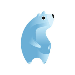 Polar bear, stylized geometric animal low poly design vector Illustration