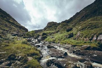 Stream flowing through the rocks