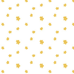 Hand drawn mustard flowers background, textile, wallpaper, sweet flowers, doodles
