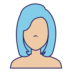 beautiful woman shirtless avatar character vector illustration design