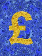 Abstract UK pound symbol