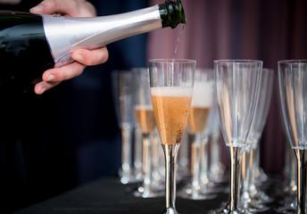 bicchieri di champagne  rosè