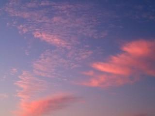 Pink cloudscape