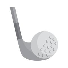 ball and club golf icon image vector illustration design