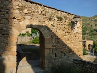 Teruel. Pueblo de Mirambel  (España) en la comunidad autónoma de Aragón dentro de la comarca del Maestrazgo