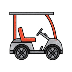 golf sport car vehicle transport vector illustration