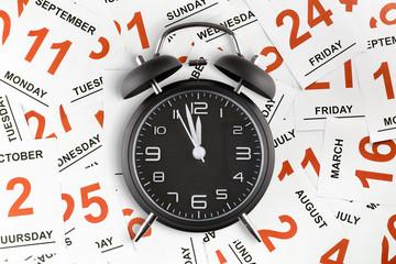 Sveglia su sfondo calendario