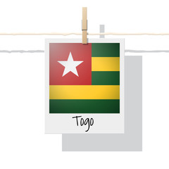 African country flag collection with photo of Togo flag , vector , illustration
