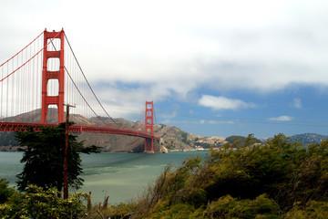 Golden Gate Bridge vom Presidio Park aus.Where: San Francisco, USA.When: 07.07.2013.