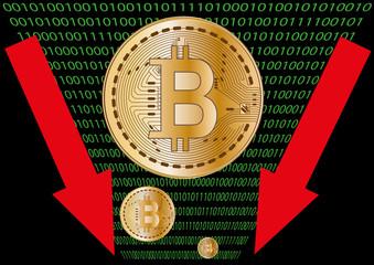 Obraz bitcoin crash vector - fototapety do salonu