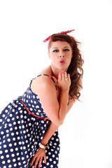 1950s vintage rockabilly retro fashion, pin up
