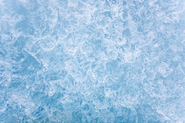 Beautiful crystallized pure ice texture background