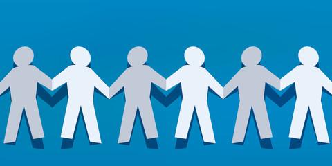 chaine - papier - concept - ensemble - groupe - union - équipe - travail d'équipe - solidarité - amitié