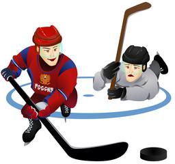 Хоккеисты рисованные персонажи
